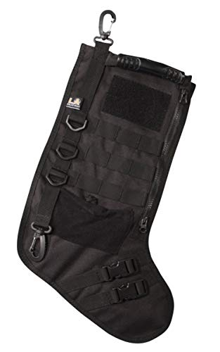 LA Police Gear LAPG-AC-TCS3 Molle Elite Tactical Xmas Ultra Super Deluxe Patch Stocking-Black