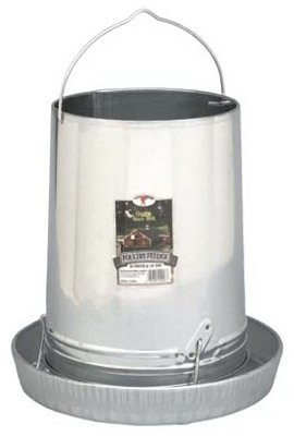 Hanging Poultry and Gamebird Feeder with Feed Pan, 30 Lb Galvanized Steel, My Pet Supplies