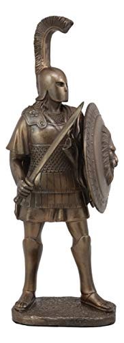 Ebros Alexander The Great With Shield And Sword Statue King Emperor Conqueror Of Greek Macedonia Founder Of Hellenistic World Historical Home Decor Figurine