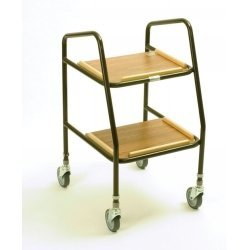 Trolley Adjustable Height Teak (Teak Trolley)