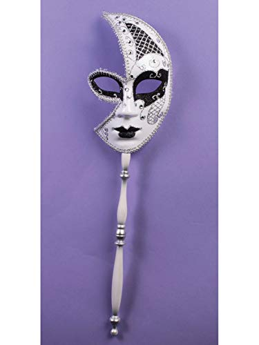 Forum Novelties 75086 Half Mask with Stick, One Size, Pack of 1]()