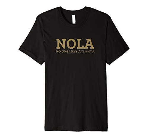 NOLA - No One Likes Atlanta Funny Vintage Football T Shirt