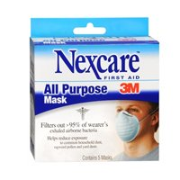 Nexcare All Purpose Mask, 5 each by 3M (Pack of 3)