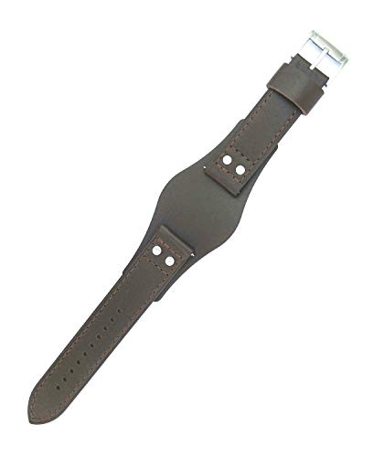 ZTD212 Fit for Fossil CH2891 22mm Brown Leather Watch Band Strap Free Spring BAR Tool FSL105