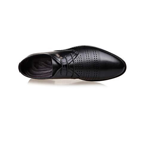 uomo estive Scarpe Nero scarpe scarpe scarpe sandali cuoio vestito d'affari casual da uomo WFL uomo da di vuote estate traspiranti da TPqRHxRAn