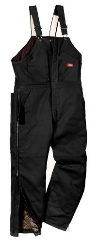 Dickies Men's Premium Insulated Bib Overall, Black, XX-Large/Regular Premium Bib Overall