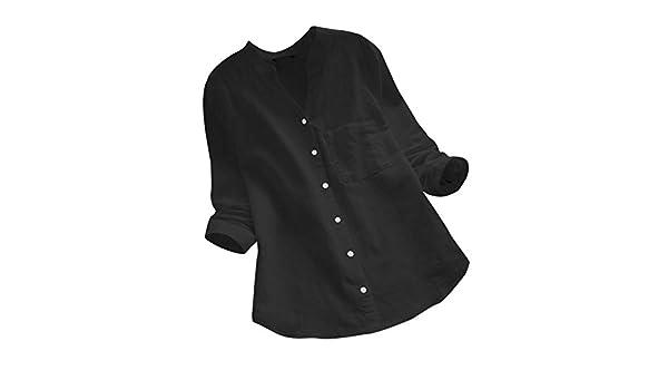 KPILP - Camiseta de Manga Larga para Mujer (Manga Larga, Cuello en ...