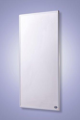 Infrarot Heizung mit Digitalthermostat Elektroheizung mit Stecker für Steckdose - 5 Jahre Premium-Herstellergarantie- Elektroheizung mit Überhitzungsschutz und TÜV - Heizt nach dem Prinzip der Sonne - heizt im optimalen Wellenlängenbereich von 8-15µ - Sonnenheizung (130 Watt)