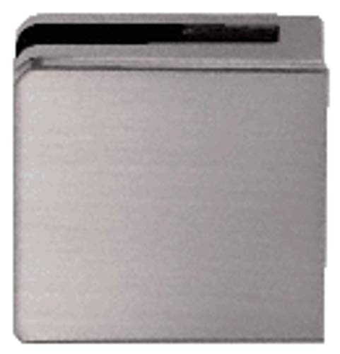 """C.R. LAURENCE Z806BN CRL Brushed Nickel Z-Series Square Type Flat Base Zinc Clamp for 1/4"""" and 5/16"""" Glass"""