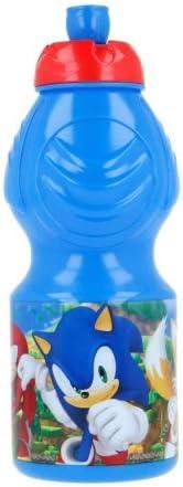 Cantimplora deportiva de plástico para niños, 400 ml, con boquilla (Soniic)