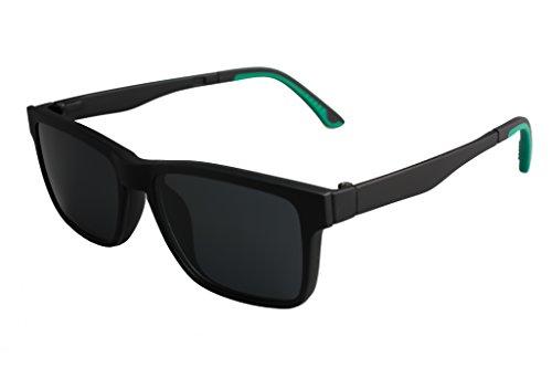 IVSTA Men/Women Polarized UV400 Lens Clip-on Magnet Myopia Sunglasses Outdoor Sports Driving Fishing glasses (Black, - Perfectly Clip Round Sunglasses On