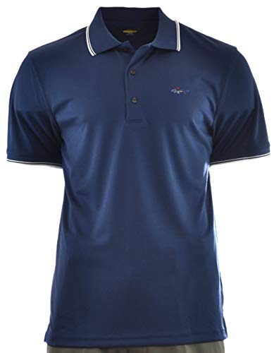 Greg Norman Play Dry Performance Golf Polo (XX-Large, True Navy)