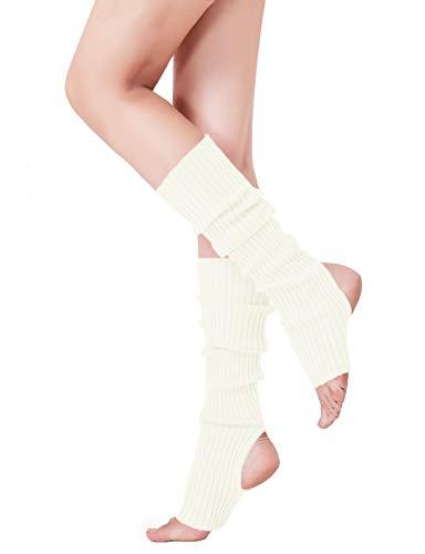 V28 Women's Neon Knit Leg Warmer for 80s Party Dance Sports Yoga - Stretch Leg Knit Warmers