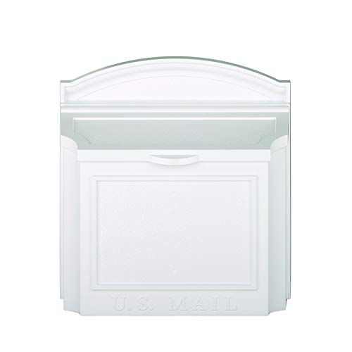 - Whitehall Products 16139 Wall Mailbox, White