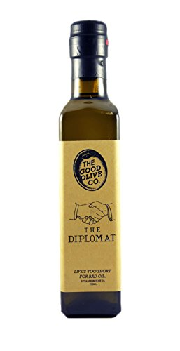 Extra Virgin Olive Oil by The Good Olive Co | 2017 Gold Medal Winning Diplomat Blend | 100% Real EVOO | Sustainable, Hand Picked, Single Origin 2017 Harvest | Healthy Cooking, Antioxidant Rich | 250ml by The Good Olive Company