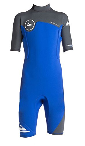 a3deab7728 Image Unavailable. Image not available for. Color  Quiksilver Boys 2 2Mm  Syncro Series - Short Sleeve Back Zip Flt Springsuit ...