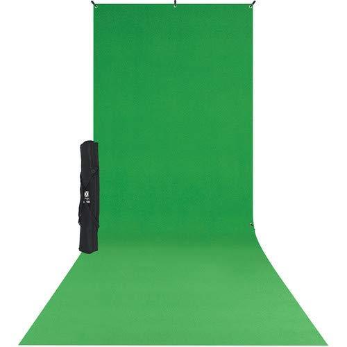 Westcott 579SK X-Drop Wrinkle-Resistant Backdrop Kit - Chroma-Key Green Sweep (5' x 12')