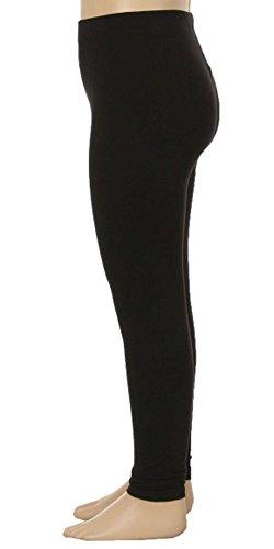 Always Kid's Girls Stretchy Solid Colored Full Length Leggings Black S/M (Leggings Kids)
