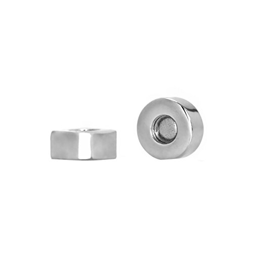 Replacement Magnetic Earring Backs - 6MM Rhodium Plated