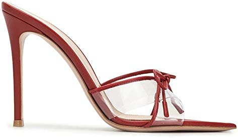 ZHHAOXINPA Clásico Zapatos de Tacón Transparentes para Mujer, Zapatos de Tacón Alto con Punta Abierta, Sandalias de Tacón Alto para Mujer