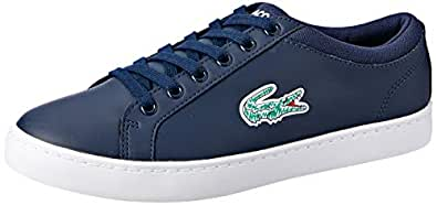 Lacoste Straightset LACE 118 1 Kids Fashion Shoes, NVY/WHT, 1 US