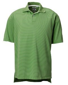 (adidas Golf Mens ClimaLite Tech Pencil Stripe Polo - IRELAND/WHITE - XL)