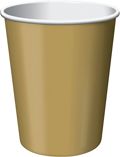 (Creative Converting Paper Hot/Cold Cups, 9-Ounce., Glittering Gold Color, 24)