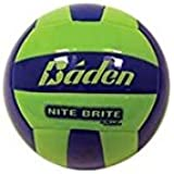 Nite Bright Glow in the Dark Volleyball Durable Cushioned Sythentic Leather Game & Practice Indoor/Outdoor Ball