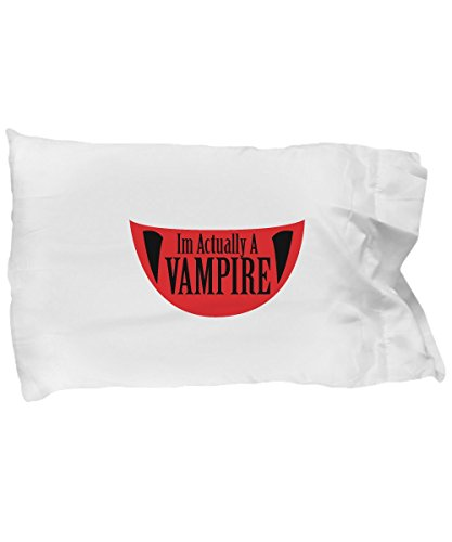 Pillow Covers Design Funny Im Actually A Vampire Halloween Meme Funny Gift Pillow Cover Ideas -