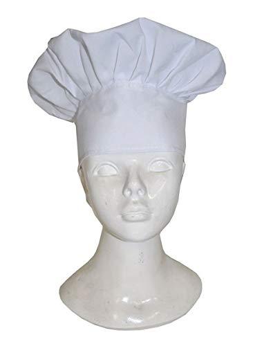 Cappello da cuoco per adulto copricapo travestimento chef  Amazon.it ... d55d30e95d71
