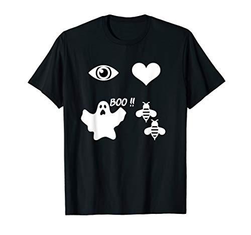 funny eye, heart, boo, bees Halloween gift T-Shirt