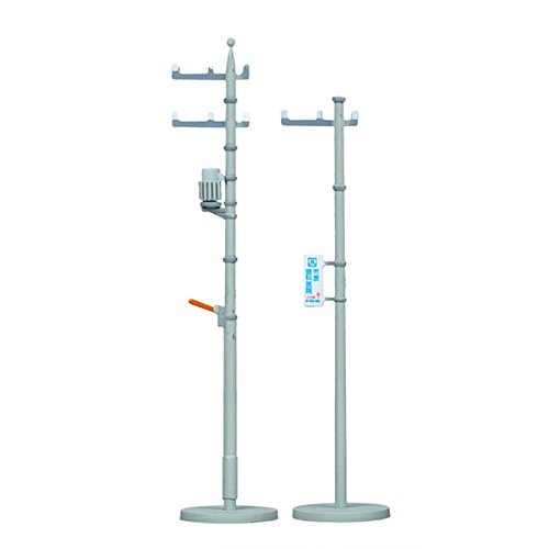 UTILITY POLES -- INCLUDES 3 TALL AND 9 SHORT POLES