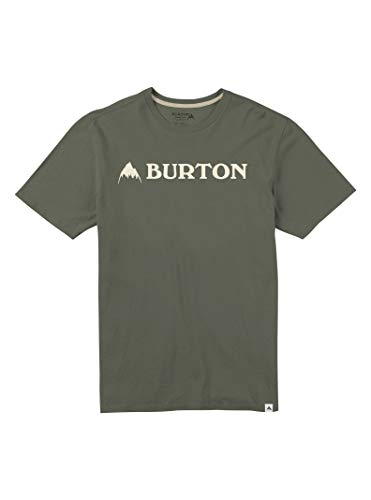 Burton Men's Horizontal Mountain Short Sleeve T-Shirt, Dusty Olive, X-Large