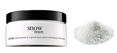 Philosophy glazed body souffle Creme Snow Man 4 oz and a pack of Vanilla Scented Bath Salt by Philosophy
