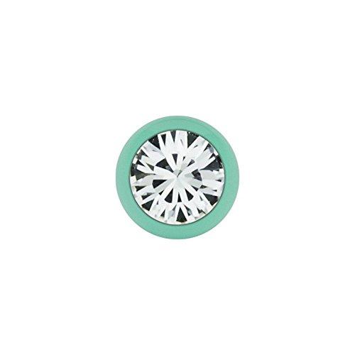Stahl - Schraubkugel - Pastell Grün - Kristall - SWAROVSKI - Supernova Concept (Piercing Schraubkugel Aufsatz für Hufeisen, Stäbe, Labrets etc.)