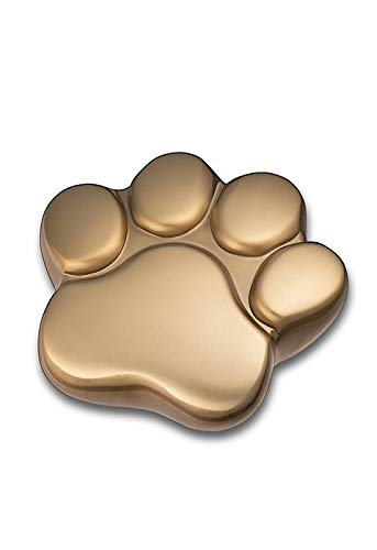 LegendURN Pet urn 'Paw Print' satin gold