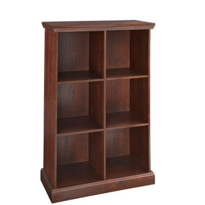 ClosetMaid 26 in. x 39 in. Mahogany 6-Cube Organizer