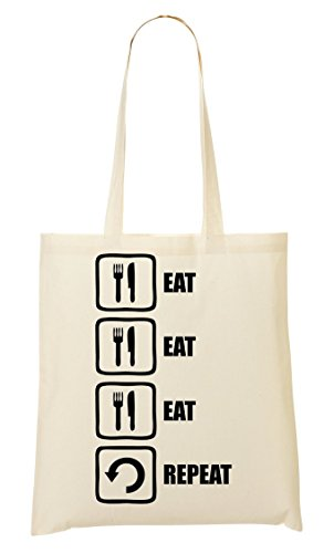 Sac Fourre Eat tout à Eat Graphic ShutUp provisions Black Sac Repeat Eat Funny Tnnvw8Hq