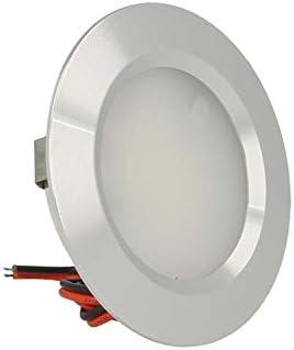 Mini foco LED empotrable redondo 3W AC/DC 12V DC 24V, orificio 50mm, carcasa de aluminio satinado