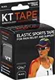 Kt Tape Black Elastic Sports Tape, Pack of 12