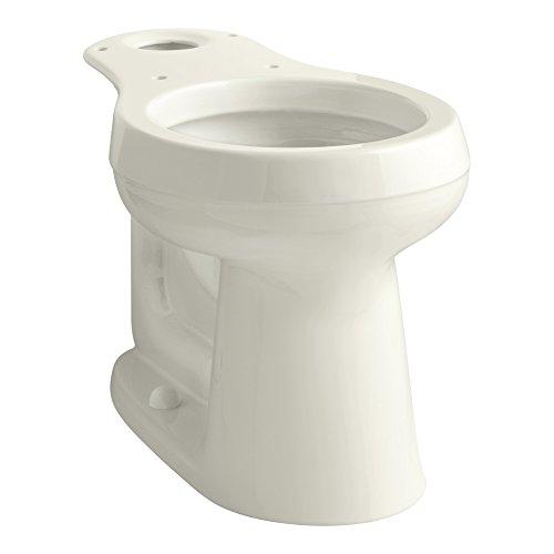 (KOHLER 4347-96 Cimarron Comfort Height Round-Front Toilet Bowl, Biscuit)