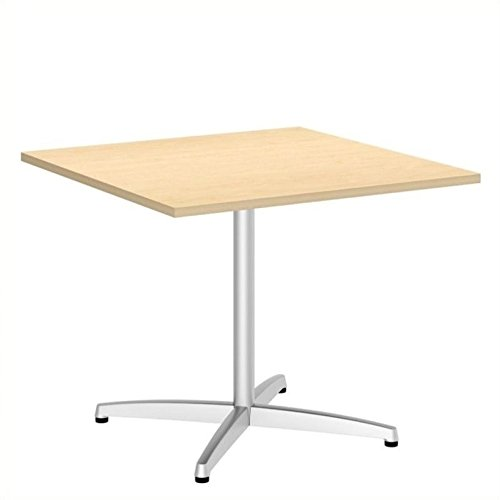 Bush 300 Series 36'' Square Conference Table in Natural Maple by Bbf