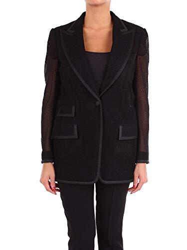 Dolce e Gabbana Luxury Fashion Woman F29AGTGDN07N0000 Black Silk Blazer | Season Outlet