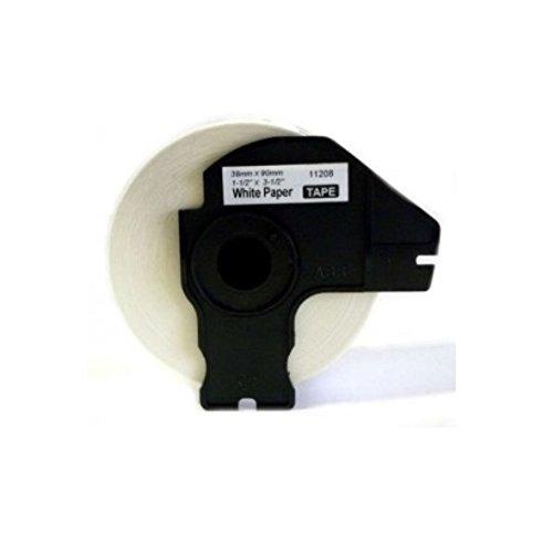 Prestige Cartridge Etichetta per Rotolo, Sostituisce DK11208, 38mm x 90mm, 10 Pezzi, Bianco Ten DK-11208