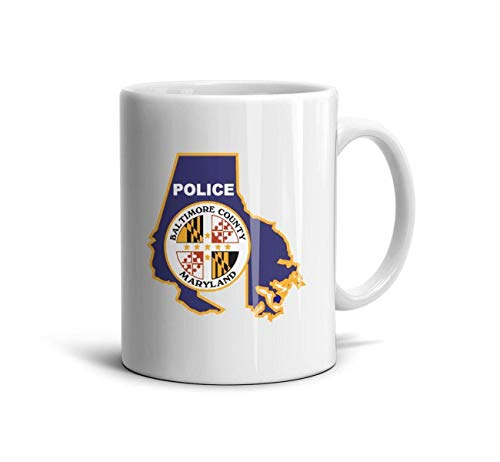 CXVSGVZGVFSZV Maryland Baltimore County Police White Funny FamilyMembers Ceramic Cup Hubby and Wifey Gifts (White County Police)