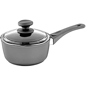Saflon Titanium Nonstick 3-Quart Sauce Pan with Tempered Glass Lid, 4mm Forged Aluminum with PFOA Free Coating from England
