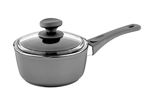 Saflon Titanium Nonstick 2-Quart Sauce Pan with Tempered Glass Lid, 4mm Forged Aluminum with PFOA Free Coating from England
