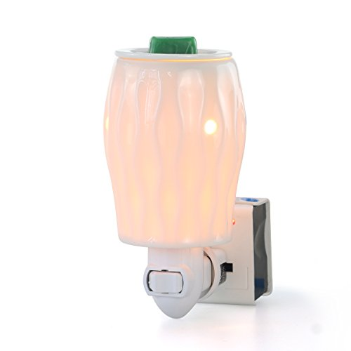 StarMoon Plug in Wax Melt Warmer for Home Décor, Pluggable Home Fragrance Diffuser, No Flame, Removable Dish, with One More Bulb (Brazil Beauty)]()