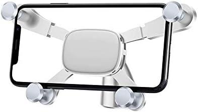 車載ホルダー 携帯電話 自動ロック ユニバーサル 360度回転 ホルダー 車 ブラケット L.P.L (Color : 白, Size : フリー)