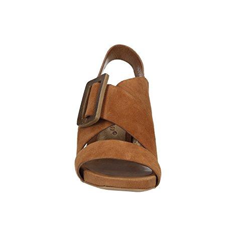 Premi R2001X Brown Bruno Camoscio Sandals Laminato zxw1n8O1